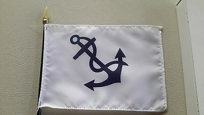 "Lot of 11 SMALL 4 "" x  6""  Hand / Desk sailing fleet captain FLAGS Endura gloss"