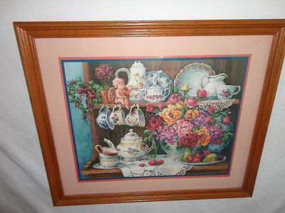 Home Interiors Large '' China Hutch '' Picture  Gorgeous   22.5'' x 26.5''