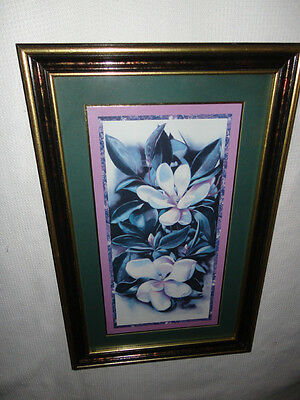 Home Interiors '' White Magnola'' Picture  Hang H or V Gorgeous  14.5'' x 22.5''