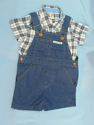 Old Navy Toddler Baby Boy Outfit 2 piece 6-12 Months Denim Overalls