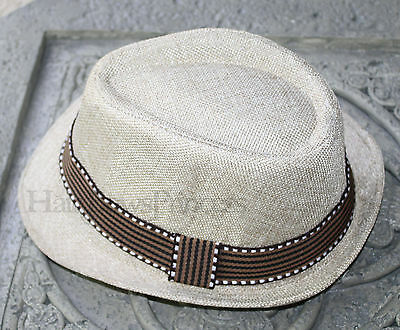 Fedora Hat For Kids Child boys girls toddler 2-6y Toddler hat wedding tan