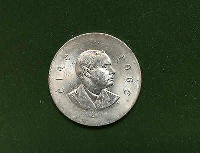 1966 Ireland 10 Schilling Silver Coin! 50Th Anniversary Easter Uprising