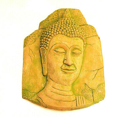 KHMER Clay BAS RELIEF Wall FRAGMENT Buddha ANGKOR Period Reproduction Rare Gift