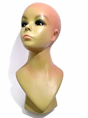 """16"""" Tall Female Woman Mannequin Head Bust Hat Stand Wig Holder Jewelry Display"""
