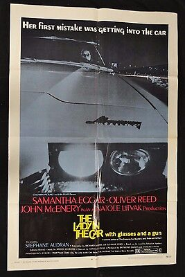 "Original 27 x 41"" 1SH 1970 The Lady In The Car Movie Poster N400"
