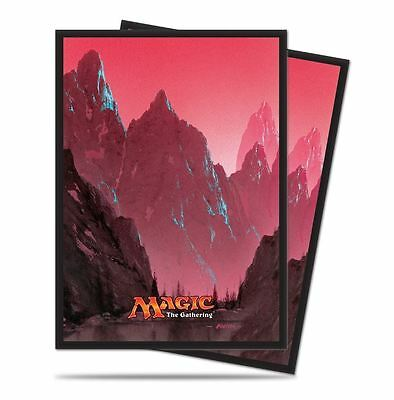 80 ULTRA PRO MOUNTAIN DECK PROTECTORS SLEEVES MTG Unhinged Red
