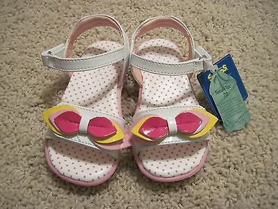 Sonoma Floral Petunia White Pink Yellow Sandals Dress Shoes Toddler Girls Size 7