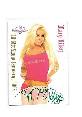 2005 Benchwarmer Mary Riley LA Gift Show Green Ink Auto Autograph