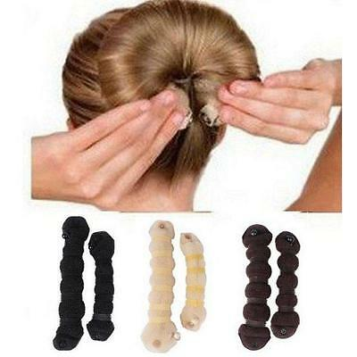 New Fashion Hair Magic Style Bun Maker Buns (1 large + 1 small) For Women's -Y