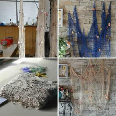 Nautical Seaside Beach Decorative Sea Ocean Fish Net Home Wall Party Decor Y