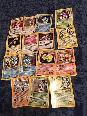 Nearly Complete Gym Challenge Set Pokemon Cards
