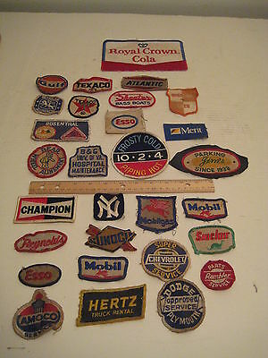 29 Vintage Uniform Patches, Gas Stations, Service Centers and Miscelaneous