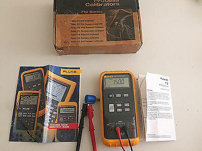 USED Fluke 712 RTD Calibrator, Original Box, Leads & Clamps, Instruction Sheet