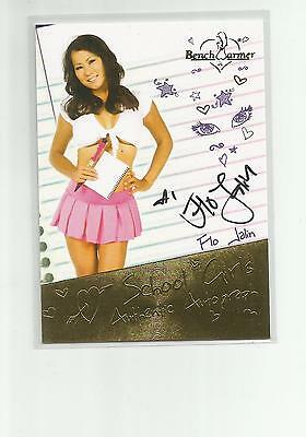 2014 Benchwarmer Hot For Teacher Flo Jalin Auto Autograph