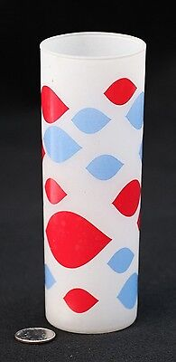DAIRY QUEEN Tall Drinking Glass Tumbler Frosted VINTAGE Advertising Ice Cream