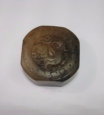 "Collectable jade stone carved  ""Pi Xiu"" Chinese seal"