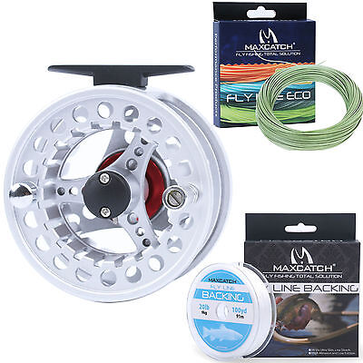3/4/5/6/7/8WT Aluminum Fly Fishing Reel & WF Fly Line &Backing Fly Reel Combo