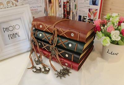 New!! Retro Classic Vintage Leather Bound Blank Pages Journal Diary Notebook Y