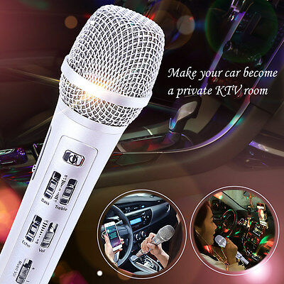 Car Wireless Microphone Karaoke KTV Mic With Speaker For Auto IOS Android Phone