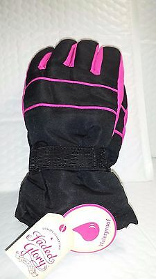 Fg Solid Snow Glove Black Soot 1 Pair L-Xl Children Size Waterproof New With Tag