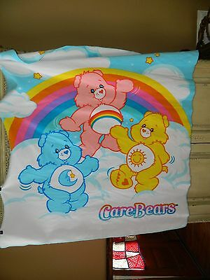 "CareBears Double Sided Plush Blanket Fleece Large Throw 53""x58"" Warm"