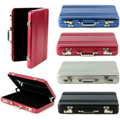Portable Mini Metal Briefcase Suitcase Business Name Card Holder Case Box New Y