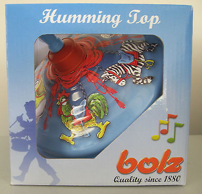 Humming Spinning Top - Pump Action Handle - Carousel Design -  Vintage Toy New!