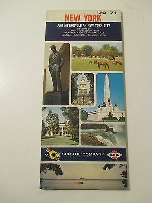 Vintage 1970-1971 SUNOCO NEW YORK Gas Service Station Road Map