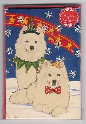 American Eskimo Holiday Cards by Pipsqueak Productions-12 pk with envelopes