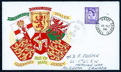 Great Britain First Day Cover Regional Issue 3D 18 Aug 1958 Jersey