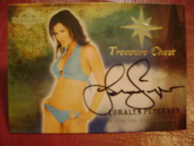 2015 Benchwarmer Treasure Chest Loralyn Peterson BASE AUTO GOLD PLAYMATE