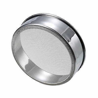 Round Flour Mesh Sifter Sifting Sieve Tea Strainer Stainless Steel High Quality