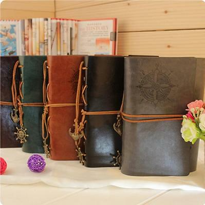 Vintage Leather Retro Notebook Journal Diary String Sketchbook Blank Pages Y