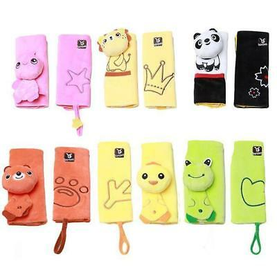 2x Cartoon Animal Baby Car Seat Stroller Shoulder Pad Belt Strap Cover Holder Y