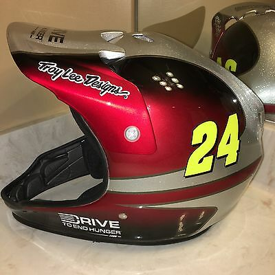 Troy Lee Designs Jeff Gordon PIT Crew HELMET Nascar Chevy Custom Hendrick DTEH