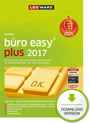 Lexware buero easy plus 2017 (365-Tage Version) Win ESD Download-Lizenz / KEY