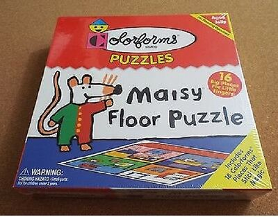 Colorforms Floor Puzzle Maisy Mouse 18 Stick-Ons Sealed NIB
