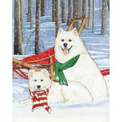 Samoyed Holiday Cards by Pipsqueak Productions -12 pk w/ envelopes