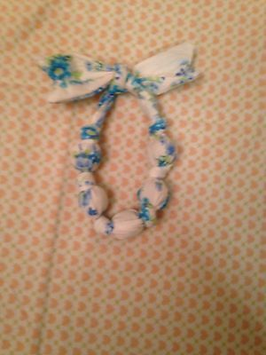 Handmade Beaded Knot Necklace Toddler NWT