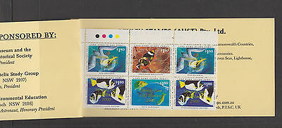 Lord Howe Island 2000 $1.80- ovpt OPENING LHI MUSEUM-Cinderella/Local-booklet