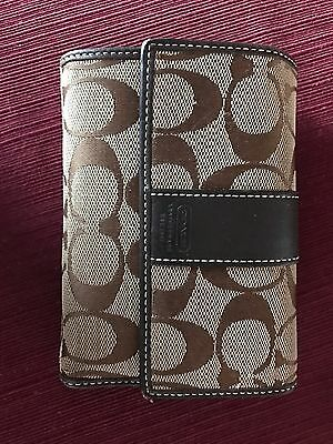 Coach Brown Trifold Wallet