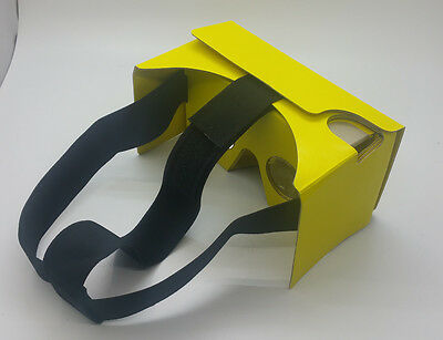 2016 New Google Cardboard V2.1 Yellow Color with Head Strap, Australian Stock