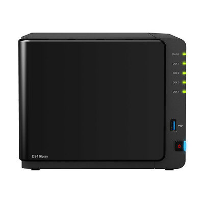 DS416PLAY - SYNOLOGY 4-BAY NAS DISKSTATION INTEL CELERON N3060 1.6-2.48GHz 1GB
