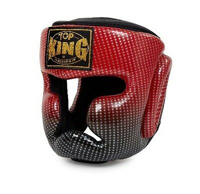 Top King Head Guard Super Star Full Face Muay Thai Boxing Mma Sparring Aus Stock