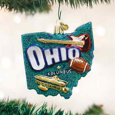 *State of Ohio* [36182] Old World Christmas Glass Ornament - NEW