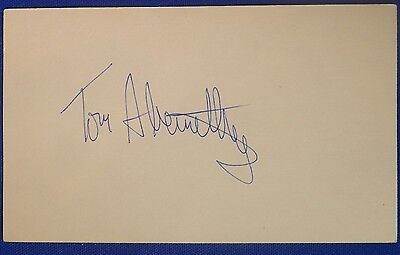 TOM ABERNETHY signed autograph 3x5 index Los Angeles Lakers Warriors Pacers