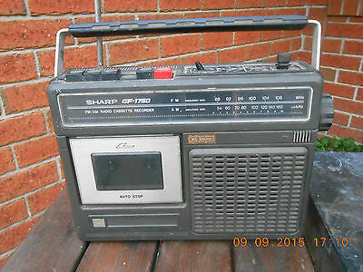 Sharp portable radio & cassette