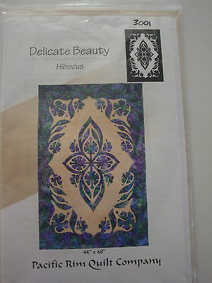 Delicate Beauty Hibicus Patchwork and Quilting Pattern
