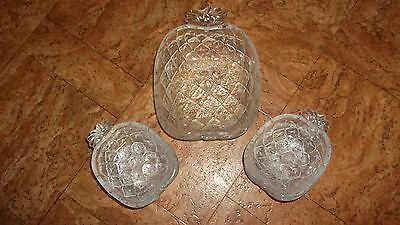 Vintage Master + LOT x 6 - pineapple shaped dessert SUNDAE bowls