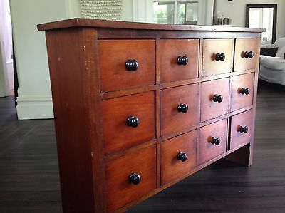 Antique Pigeon Hole Cabinet With Drawers